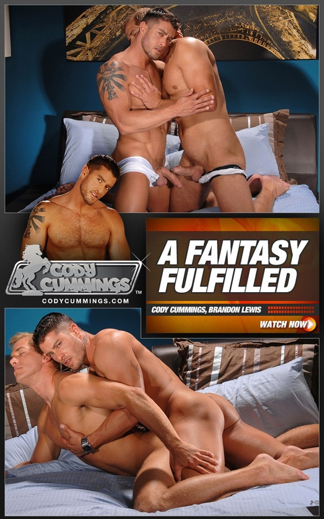 Brandon Lewis Fucks Cody Cummings Ass with his Huge uncut dick anal Virgin Cody Takes it like a man
