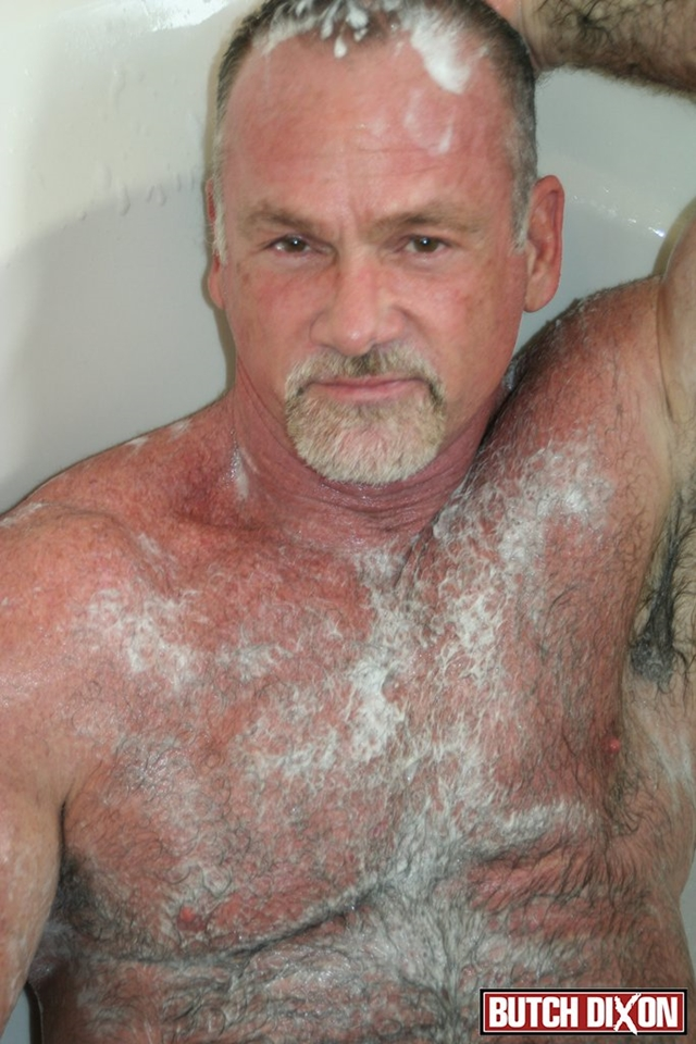 Butch-Dixon-silver-haired-hunk-older-mature-stud-Mickie-Collins-flexes-muscles-rubs-furry-tanned-skin-011-male-tube-red-tube-gallery-photo