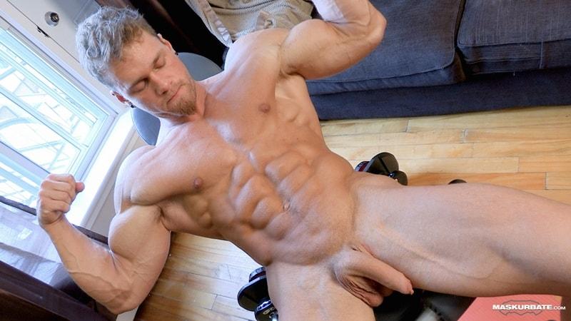 Big-muscle-man-Maskurbate-Brad-strips-naked-jerking-huge-uncut-dick-cum-009-Gay-Porn-Pics